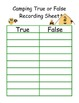 Camping Owls True False Equation Sort