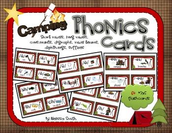 Camping Phonics Cards