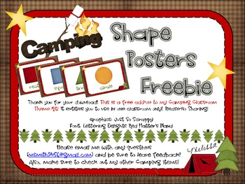 Camping Shape Posters