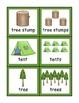 Camping Singular and Plural Noun Sort for Kindergarteners
