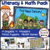 Camping Song & Activity Packet: 5 Happy Campers Song, Lite