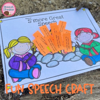 Camping Speech Therapy Craft Articulation Language Craftiv