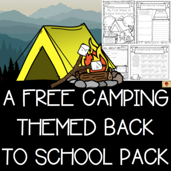 Camping Theme All About Me Free Set