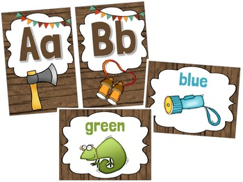 Camping Theme Alphabet & Color Posters - Custom Order for Madison