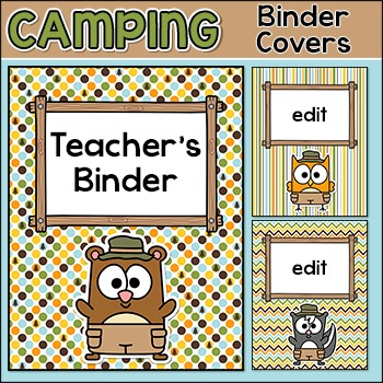 Camping Theme Binder Covers