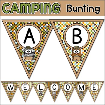 Camping Theme Bunting Banners