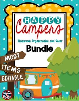 Camping Theme Classroom Bundle