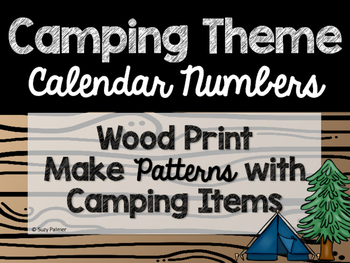 Camping Theme Classroom Decor: Calendar Numbers