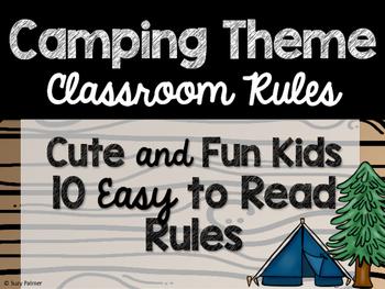 Camping Theme Classroom Decor: Classroom Rules