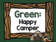 Camping Theme Classroom Decor: Clip Chart