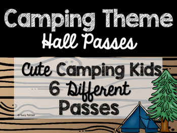Camping Theme Classroom Decor: Hall Passes