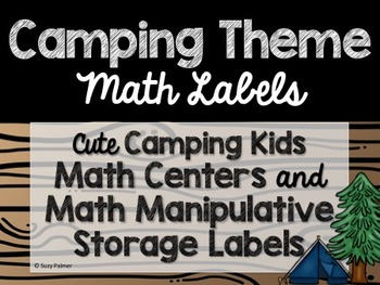 Camping Theme Classroom Decor: Math Center Labels
