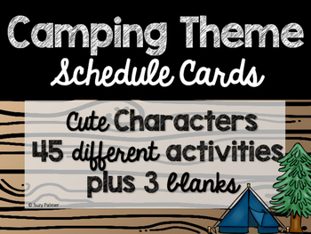 Camping Theme Classroom Decor: Schedule Cards