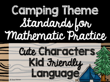 Camping Theme Classroom Decor: Standards for Mathematical