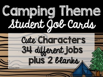 Camping Theme Classroom Decor: Student Jobs