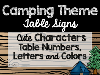 Camping Theme Classroom Decor: Table Signs