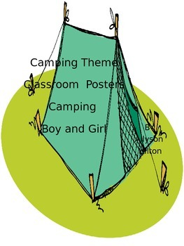 Camping Theme Classroom Posters