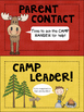 Camping Theme Clip Chart