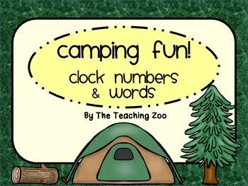 Camping Theme Clock Tags & Labels {Camp Fun}