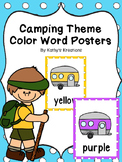 Camping Theme Color Posters