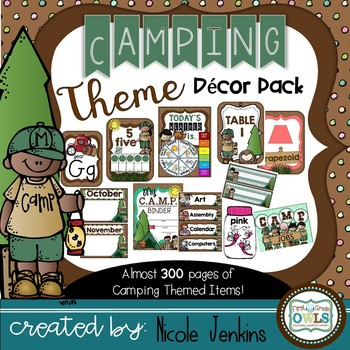 Camping Theme Decor Pack