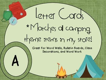 Camping Theme Letter Cards