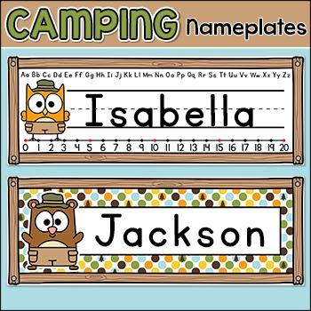 Camping Name Plates