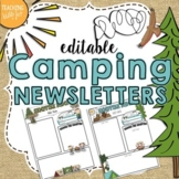 Camping Theme Editable Newsletter Template- POWERPOINT FILE