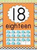 Camping Theme Number Posters - 1 to 20 - With Ten Frames