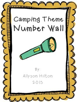 Camping Theme Number Wall
