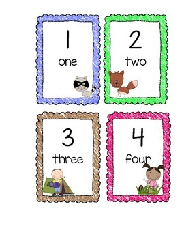 Camping Theme Numbers