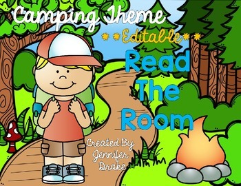 Camping Theme Read the Room EDITABLE