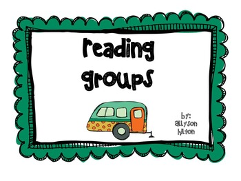 Camping Theme Reading Groups