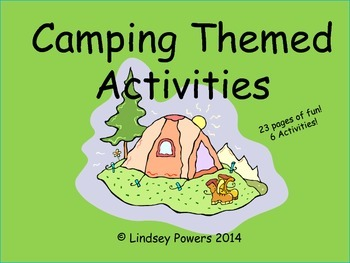 Camping Themed Activities for Kindergarten
