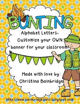 Camping Themed Buntings- Customize Your Own Banner!