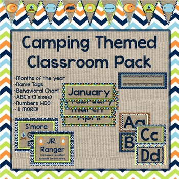Camping Themed Classroom Pack