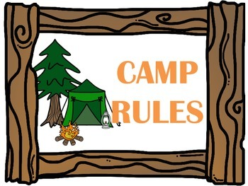 Camping Themed Classroom Rules