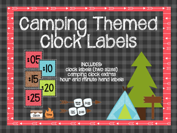 Camping Themed Clock Labels