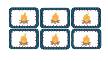 Camping Themed Editable Supply Tags