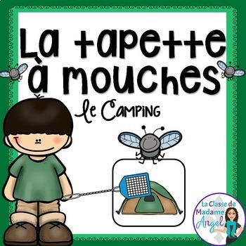 Camping Themed Game in French - La tapette à mouches