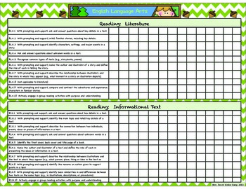 Camping Themed Kindergarten Common Core State Standards Ch