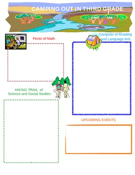 Camping Themed Newsletter
