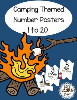 Classroom Decor, Camping Theme, S'mores Theme,  Number Pos