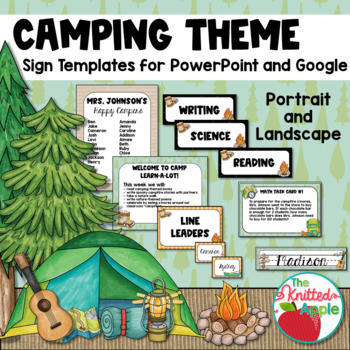 Camping Theme Sign Templates {Editable}