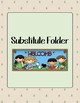 Camping Themed Substitute Folder Forms Freebie!