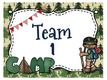 Camping Themed Team (Camp) Posters