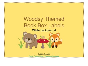 Woodsy Themed Book Box Labels White