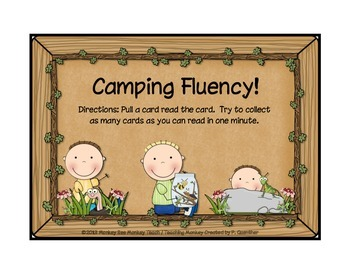 Camping With Fluency  One Minute Practice