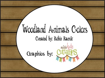 Camping Woodland Animals Colors (Adjustable)