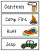 Camping Word Wall Cards & Coloring Pages